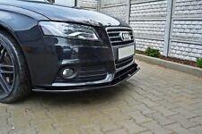 Carbon Cup Spoilerlippe für Audi A4 B8 8K Lippe Front Diffusor Ansatz schwert