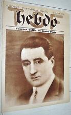 RARE T.S.F. HEBDO N°42 15/07 1928 PROGRAMMES TSF EUROPE EMETTEUR TOUR EIFFEL