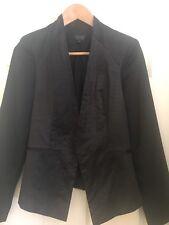 Topshop Women's black blazer coat suit Jacket Size 8 Ex Condition