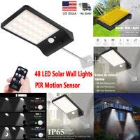 48 LED Solar Lights Outdoor Waterproof Motion Sensor Wall Light Garden Yard Lamp