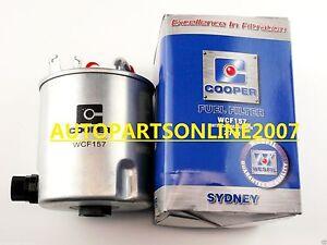 COOPER DIESEL FUEL FILTER for NISSAN NAVARA D40 YD25 2.5L SPANISH 06/2006-ON