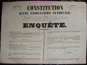 DOC182 - AFFICHE CONSTITUTION ASSOCIATION SYNDICALE  AIGLUN ROQUE-ESTERON 1867