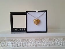 "GUESS ""JASMINE""  LADIES GOLD TONE OPEN  HEART NECKLACE UBN 71525"