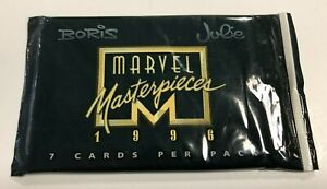 1996 Marvel Masterpieces Comic Cards by Fleer/Skybox (7 Cards Per Pack)