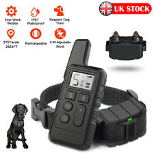 800M Remote Pet Dog LCD Training Collar Electric Shock Anti-bark Rechargeable UK