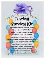 Festival Survival Kit - Unique Fun Novelty Gift & Keepsake For A Festival Lover