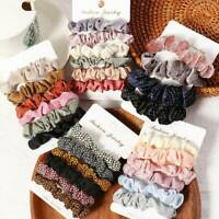 6pcs Cnady Color Ponytail Holder Elastic Rubber Band Hair Ties Ropes Scrunchies