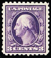 464, Mint 3¢ VF LH Perforation 10 CV $65.00 - Stuart Katz
