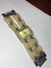 Michael Kors MK-4047 Beige Tones Shell & Silver Tone Case & Band For Small Wrist