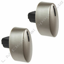 2 Superior Quality Silver Control Knob Switch Dial For Neff Oven Cooker Hobs