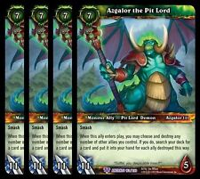 4x Azgalor the Pit Lord War of Ancients Epic 163 World Warcraft WoW TCG Card