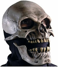 Adult Unisex Zagone Death Skull Full Latex Halloween Mask with Moving Mouth fnt