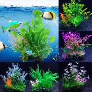 Aquarium Fish Tank Decoration Artificial Fake Water Grass Green Plastic Plant