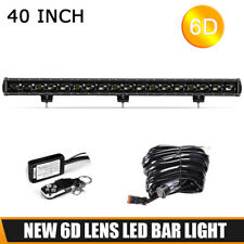 40in 180W LED Light Bar Work Offroad Flood Fog Truck 4WD SUV Lamp Wiring Harness