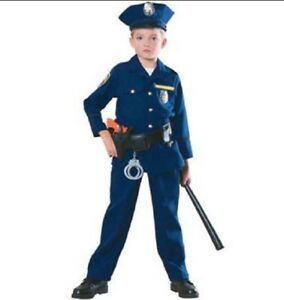 Boys Child Young American Heroes POLICE OFFICER Costume