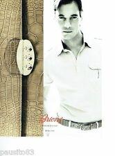 PUBLICITE ADVERTISING 116  2011  Brioni  ceinture  homme