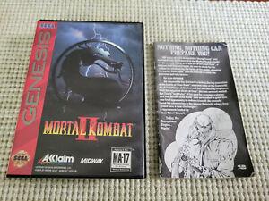 Mortal Kombat II - Authentic - Sega Genesis - Case and Manual Only!