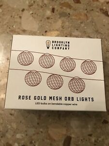 Brooklyn Lighting Company rose gold Mesh orb  lights