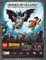 Lego Batman Nintendo Wii Print Ad Original Art 7.75x10.50