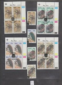 PC 42 _ South Africa. Nice set of Beetles stamps and blocks.