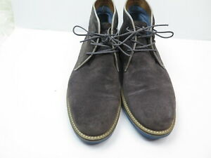 Aldo Mens Gray Suede Chukka  Ankle High Top Boots Shoes Size US 9.5