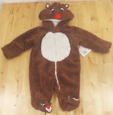 NWT Rudolph The Red-Nosed Reindeer Baby Fleece One Piece Sleeper Costume 3 Month