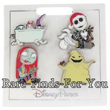 "Disney Parks ""Nightmare Before Christmas"" Jack Sally More 4-Pin Booster Pack Set"
