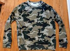 $995 Mens Balmain Camouflage Coin Crewneck Sweater Khaki/Green XL