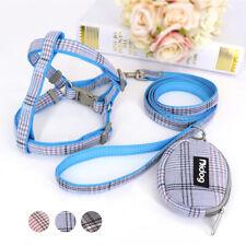 Small Dog Harness Adjustable Nylon Pet Puppy Vest Dog Leash Set & Snack Bag