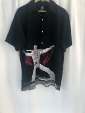 Dragonfly Elvis Presley Mens Camp Shirt Size M The King Of Rock
