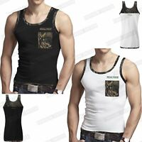 MENS JUNGLE MUSCLE VEST SLEEVELESS TOPS CAMOUFLAGE GYM TRAINING ATHLETIC SHIRTS