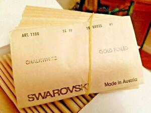 AUTHENTIC Swarovski PP Chaton / Pointbacks Foil 1440pc Factory Pk Colors & Sizes