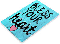 TIN SIGN Bless Heart Beach House Cottage Farm Rustic Décor Kitchen A983