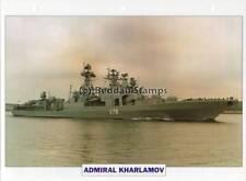 1988 ADMIRAL KHARLAMOV Cruiser Ship / Russia Warship Photograph Maxi Card