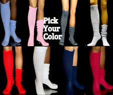 Slouch to Knee Socks scrunchie Hooters Aerobics Long Warm running nurse uniform