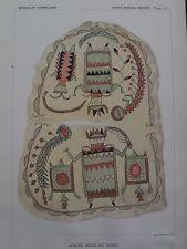 Apache Indian Arizona Healer Medicine Man Shirt 1892 Antique Print #1