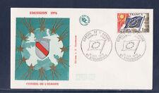 enveloppe 1er jour   conseil  de l'Europe  Strasbourg   1976