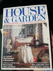 Vintage House And Garden Magazine April 1984 French Special