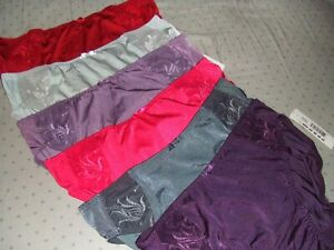 6  pr  XL  Elomi CAITLYN Low rise Brief Panty RED LAVENDER PURPLE CHARCOAL LOT