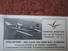 1964 PUB SCINTEX AVIATION AVION SUPER EMERAUDE F-BJVJ AIRCRAFT FRENCH AD