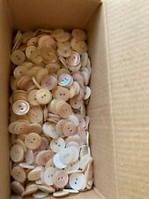 Antique Mother of Pearl hand carved buttons Never used 1/4lb Lot Creamy Pink Hue
