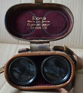 WW1 officers binoculars Ross London /i marked S3 m10631 in leather case