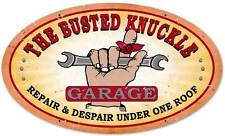 Busted Knuckle Garage Mechanic Repair Retro Metal Sign Man Cave Shop Club Bus021