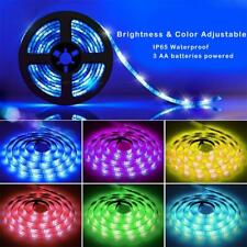2M 5V Waterproof IP65 5050 RGB LED Flexible Strip Lights Remote Control Decor