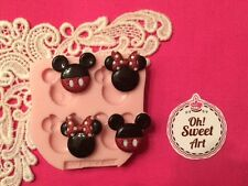 Small Mickey Mouse Minnie  silicone mold fondant cake decorating wax soap FDA