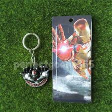 Super Hero Key Chains Metal Key Rings Marvel Iron Man Grey Gift UK Stock