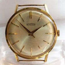 Roamer Handaufzug  Cal 413 Herren Armbanduhr 14k Gelb Gold