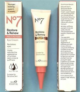 Anti-Aging Face & Neck MultiAction Eye Cream Restore & Renew No7 By Boots 15ml