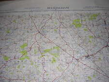 ORDNANCE SURVEY MAP 1954 WAR OFFICE EDITION. BUCKINGHAM. SHEET 146. 1 INCH