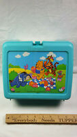 Winnie The Pooh Thermos Plastic Lunchbox No Bottle Rare Vintage 05-004-0551 Blue